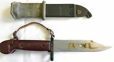 RUSSIAN VINTAGE ORIGINAL BAYONET W/ SCABBARD AG5914 STAMPED ON CROSSGUARD