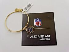 N.E. Patriots NFL Licensed Alex And Ani 50th Super Bowl Bangle Gold Finish New