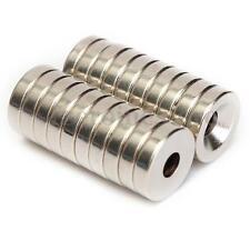 20Pzs Anillo Imán De Neodimio 12 x 3 mm Con Agujero 4mm Fuerza N50 Ring Magnet