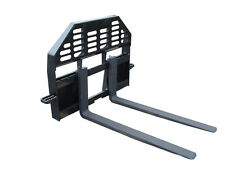 New Heavy Duty Pallet Forks For Skid Steer Fits Universal Couplers Skid Steer