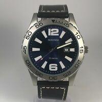 Sekonda Mens 3252A Date Indicator Quartz Analog Wristwatch Leather Strap