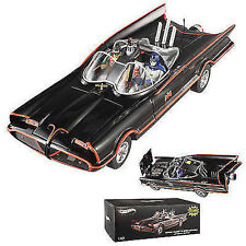 1:18 HOT WHEELS ELITE BCJ95 TV 1966 BATMOBILE mit BATMAN & ROBIN FIGUREN