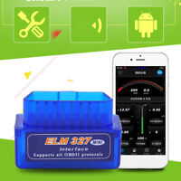 Mini OBD2 ELM327 V2.1 Bluetooth OBDII Car Scanner Android Torque Auto Scan Tool