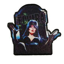 Elvira Dug Up Iron-On Patch Grave Horror Hostess DIY Craft Applique
