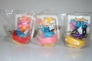 Set of 3 1994 Eureekas Castle Nickelodeon Hardees Stamper Toys SEALED Rare