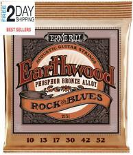 Ernie Ball Earthwood Phosphor Bronze Rock  Blues (10-52 W/Plain G) Acoustic Gui