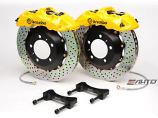 Brembo Front GT Brake 6Pot Caliper Yellow 355x32 Drill Disc Supra JZA80 93-98