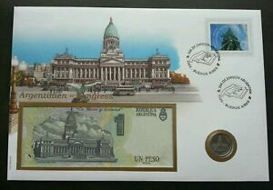 [SJ] Argentina National Constitution 1995 Congreso Law FDC (banknote coin cover)