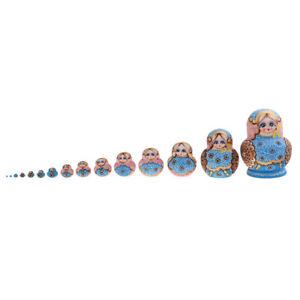 MagiDeal Russian Nesting Doll Babushka Matryoshka Stacking Dolls Set 15pcs