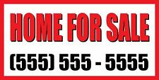 2'x4' HOME FOR SALE CUSTOM NUMBER Sign Vinyl Banner house condo apartment