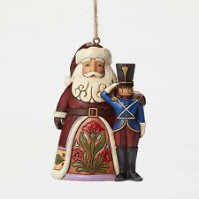 Jim Shore Santa w/Toy Soldier Christmas Hanging Ornament ~ 4049410