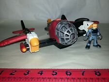 "Imaginext SKY RACER Red 13"" Twin Eagle Plane w/ Pilot"