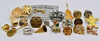 Mixed Lot of 23 New to Vintage Pins / Brooches - Sports, Shells, Music, More