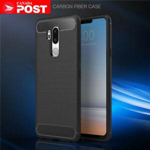 Carbon Fiber Hybrid Shockproof Heavy Duty Case Cover For LG G6 G7 / G7 ThinQ V30