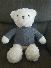 Dan Dee Collectors Choice Teddy Bear White with Knit Sweater
