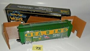 NEW WEAVER ULTRA LINE READING 1994 PRESTIGE SHARE IN FREEDOM PS-1 BOX CAR 75