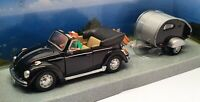 Schuco 1/43 Scale 331 5075 - Volkswagen Beetle & Caravan - Black