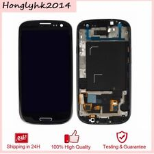 PER SAMSUNG GALAXY S3 Neo GT-i9301 DISPLAY LCD TOUCH SCREEN+FRAME NERO TELAIO