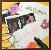 """New Edition """"All For Love"""" LP record 1985 Bobby Brown R&B 80s HYPE STICKER VG+++"""