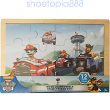 Paw Patrol 12 Wood Puzzles In Wooden Storage Box Educational Jigsaw Puzzle Set
