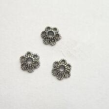 60pcs beautiful Tibet silver Flower End Beads Caps 5.5x1.5mm