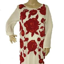 TWINSET Women's Long White Floral Dress Size Small Style T2S5HA