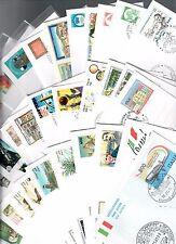 ITALIA 1991 annata completa su buste primo giorno con aereogrammi e cartolina