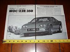 1986 1/2 CAMARO IROC Z 350 - ORIGINAL ARTICLE