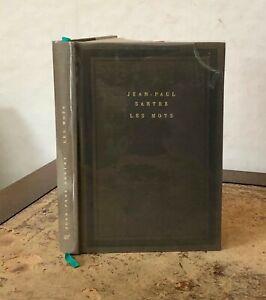 1964 Les Mots par Jean-Paul Sartre-Ltd Ed 7591/8000-Original Dust Jacket