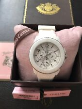 Juicy Couture Watch Pedigree Ceramic White Ladies RRP £195 Boxed Needs Battery