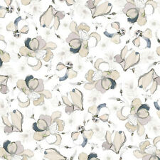 Quilting Treasures TRES CHIC WHITE-Floral & Feather Toss COTONE 0,5m