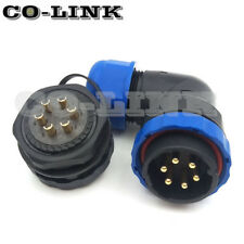 SD28 6PIN WATERPROOF CONNECTOR, RIGHT ANGLE INDUSTRIAL POWER CONNECTOR PLUG