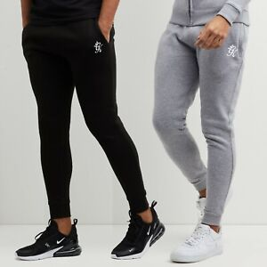 Men's Gym King Core Pant Slim Fit Joggers Cotton Grey Black Embroidered Logo
