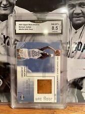 Michael Jordan 2001 Upper Deck Game Used Court Card Graded 8.5 Gma Grading
