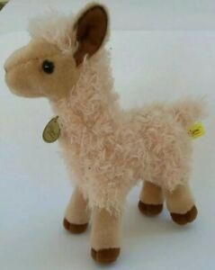 "Miyoni Aurora Baby Llama Plush 10"" Stuffed Animal Realistic Detailed Tan"
