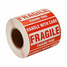 Sjpack 500 Fragile Stickers 1 Roll 2 X 3 Fragile Handle With Care Thank