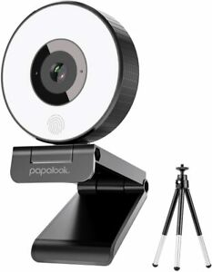 Live Streaming Webcam PAPALOOK Fixed Focus StreamCam with Tripod FHD 1080p