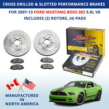 Cross Drilled Slotted Performance Brakes 2007-13 Ford Mustang Boss 302 5.0L V8