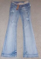 ~NWT Women's AMETHYST Mid-Rise Boot-Cut Belted Jeans! Size 0 FS:)~