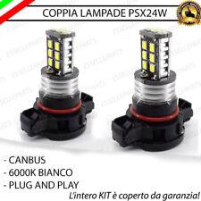 2X LAMPADE PSX24W FENDINEBBIA 15 LED CANBUS PEUGEOT 2008 BIANCO