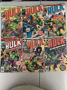 🔥INCREDIBLE HULK💥LOT OF 6💥#198,203,204,206,211,214💥BAGGED/BOARDED🔥VF🔥