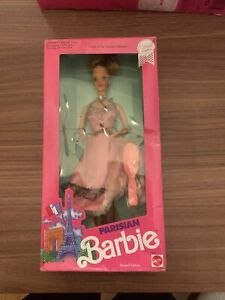 1990 PARISIAN Barbie Doll #9843 Dolls of the World Second Edition NRFB NEW!