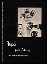 3w494/ Alte Reklame - von 1960 - PEPSI …frischer Schwung für Leute von Heute