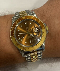 Vintage Rolex 1675 GMT-Master - Root Beer - Two-Tone - Nipple Dial Watch