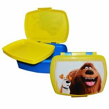 The Secret Life Of Pets 'with Tray' School Sandwich Box Lunch Brand New Gift