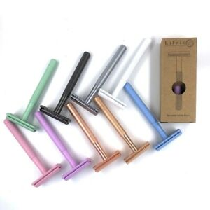 Double Edge Safety Razor + 5 Shark Blades From @Lilvio_Living, Choice of Colour