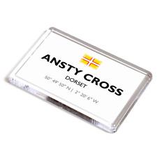 FRIDGE MAGNET - Ansty Cross, Dorset - Lat/Long ST7603