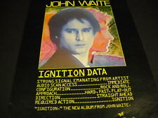 John Waite will be Igniting America on his summer tour 1982 Promo Poster Ad