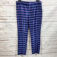Banana Republic Ryan Striped Pant Blue/ Purple Slim Size 8