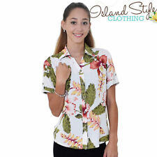 Floral Short Sleeve Button Down Shirts for Women